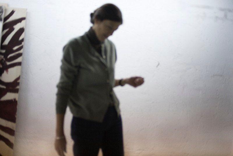 foto en el estudio. autora Susana Girón
